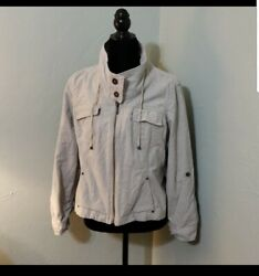 Womens Coldwater Creek Size 12p 12 Petite Open Front Jacket