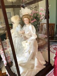 Franklin Mint - Heirloom Gibson Girl Bride Doll With Certificate Of Authenticity