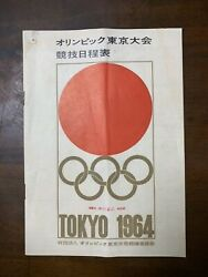 1964 Tokyo Olympic Games Competition Schedule Book