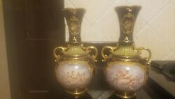 Antique Royal Vienna Signed Hand Painted Vases