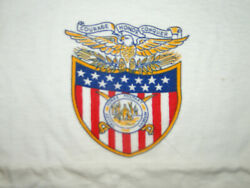 Vintage 50's Champion T-shirt Avalley Forge Military Academy College Sz M