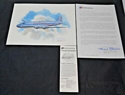Nixon Galloway Print United Airlines Collector Series Douglas Dc-4