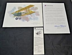 Nixon Galloway Print United Airlines Collector Series Pitcairn Pa-5 Mailwing