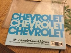 1977 Chevrolet Owners Manual/maintenance Schedule/gas Mileage Guide