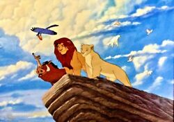 Disney Animation Cel The Lion King A New Pride Plus A Promo Binder Page Rare