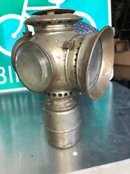 Vintage 1890andrsquos Carbide Lamp Auto Carriage Motorcycle Bicycle Light Lantern
