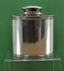 Vintage Sterling Silver Georgian Style Tea Caddy And Spoon George Unite 1924