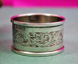 Sterling Silver Napkin Ring Queen Elizabeth Silver Jubilee Mark 1977 H.g And S
