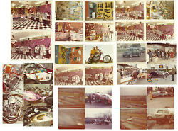 Vintage Photo Archive Of White's Pit Stop Motorcycle And Hot Rod Car Drag Racing