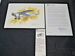 Nixon Galloway Print United Airlines Collector Series Fokker Universal