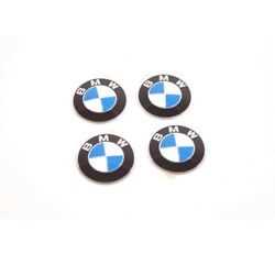 Bmw Wheel Center Cap Emblem Decals Stickers 65mm Or 2.5 Set Of 4 Genuine New Oe