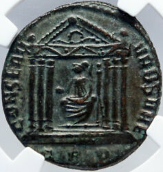 Maxentius Authentic Ancient 308ad Rome Genuine Roman Coin Temple Ngc I82900