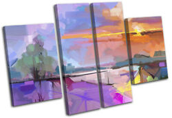 Oil Painting Tree Abstract Landscapes Multi Canvas Wall Art Picture Print