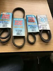 Lot Of 4 New 17380 Dayco Belts Starion Conquest A/c Various 17293 17320 15380dr