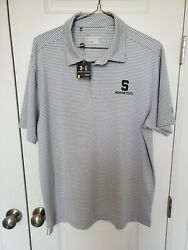 New Michigan State Under Armour Loose Heat Gear Golf Polo Shirt Xl