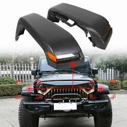 For 07-18 Jeep Wrangler Jk High Top Front Fender Flares W/ Lights And Inner Liners