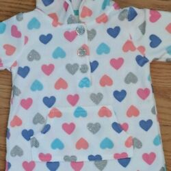 Baby Clothes 💕 HEARTS HOODED ROMPER *  OUTFIT & for OOAK REBORN BABY DOLL * 3 M