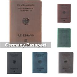 Genuine Leather Germany Passport Cover Designed For German Crazy Horse Leather