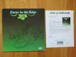 Yes Signed Close To The Edge Record Jon Anderson Bill Bruford Howe Wakeman Psa