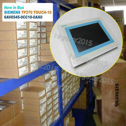1pc New Siemens Simatic Panel Tp270 Touch-10 Cstn 6av6545-0cc10-0ax0 Touch Panel