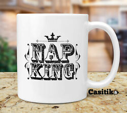 Lazy People Coffee Mug Nap King - Gifts For Lazy People That Love To Sleep