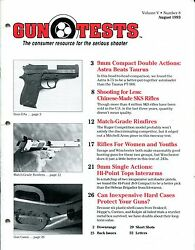 Gun Tests Magazine Volume 5 Number 8 August 1993 9mm Double Actions Sks Rifles