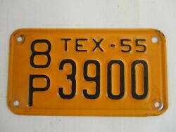 Super 1955 Texas Motorcycle  License Plate Tag