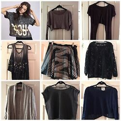 1500 Lf Stores 8 Piece Asos Clothing Fall Lot With Jacket Shirt Sweater S M