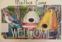 Magnetic Mailbox Cover Welcome Birdhouse Buoys Seagull In Hat Beach Summer