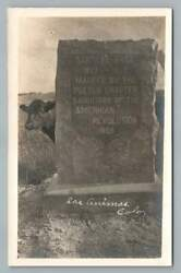 Santa Fe Trail Marker amp; Cow LAS ANIMAS Colorado RPPC Antique Monument Photo 1909