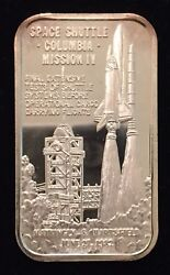 Space Shuttle Columbia Mission Iv 999 Silver Art Bar 1 Troy Oz Sm-14