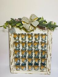 Southern Living Wood Advent Calendar Mini Milk Canisters Shabby Chic 200 New