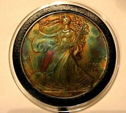 2009 American Silver Eagle Toned And Uncirculated Great Gift