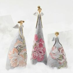 Angel Decoration Flower Resin Figurines Fairy Ornaments Statue Office Home Decor