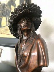 Bronze Native American Sculpture By Fritz White Signed 7 Of 36 Made.