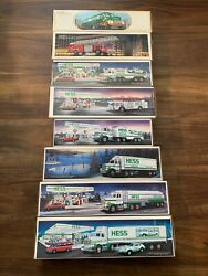 1988 Hess Toy Truck Collections And Racer In Mint Box Nib