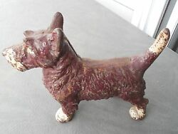 ANTIQUE LITTCO CO. CAST IRON SCOTTISH TERRIER DOG DOORSTOP SCOTTY DOOR WEIGHT