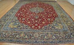 9and0399 X 14 Fantastic Signed Semi Antique Handmade Oriental Wool Area Rug 10 X 14
