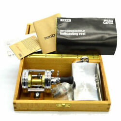 Abu Garcia 3500ca Limited Reel Silver With Whiskey Bottle Rare