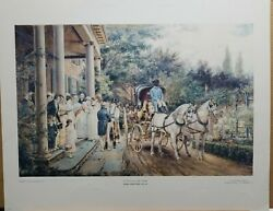 Edward Lamson Henry Vintage Print A Wedding In The Thirties 1960's 22.5×28