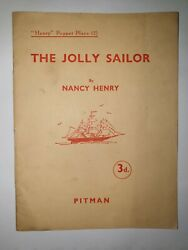 Very Rare The Jolly Sailor Nancy Henry Childrens Puppet Plays Pitman 1937