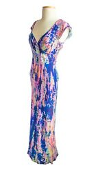 New Dyed Silk Maxi Dress Bridesmaid Gown Pink Navy Blue Purple Mother Of Bride 8