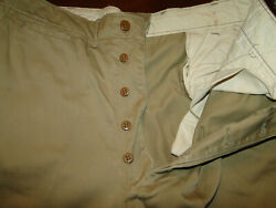 Vintage Us Army Military Uniform Trousers Chino Pant Button Fly Wwii S Z 35 X31