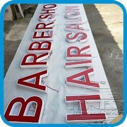 Customs Channel Letter Hair Salonbarber Shop Sign With Power Supply.20in Tall