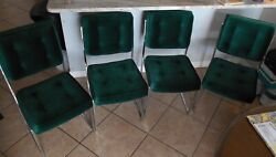 Glam Hollywood Regency Style Dining Side Chairs Set Of 4