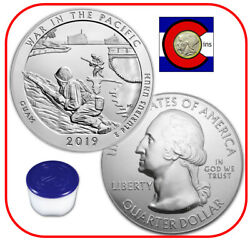 2019 War In The Pacific 5oz Silver America The Beautiful Atb Roll/tube 10 Coins