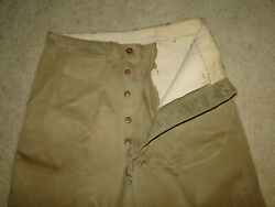 Vintage Usmc Us Military Uniform Trousers Chino Pant Button Fly Wwii Sz 32 X32