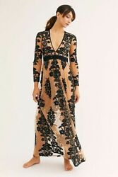 Free People NWT Size Small For Love amp; Lemons Black Temecula Maxi Dress NEW $250.00