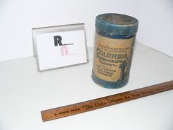 Columbia Phonograph Company Tube Box Empty Amazing Graphics And Colors Box Only