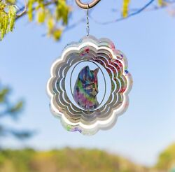 Vp Home Kinetic 3d Colorful Cat Metal Outdoor Garden Decor Wind Spinner